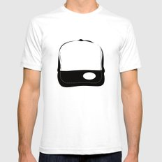 No Logo Cap Mens Fitted Tee White SMALL