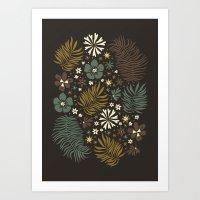 Mystical Forest (Greens) Art Print