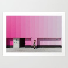 Lost in saturation Art Print