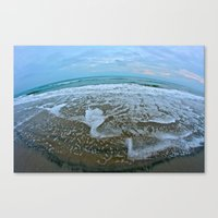 Fisheye Beach Canvas Print