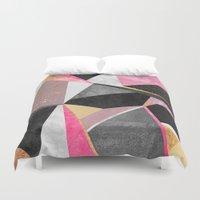 Geometry / Pink Duvet Cover