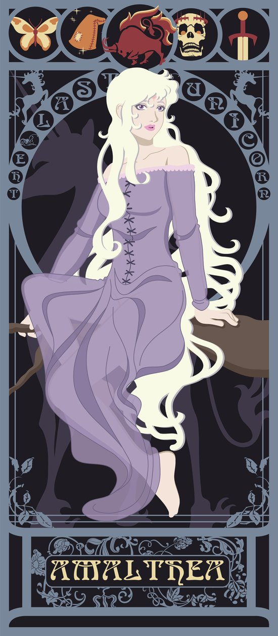 Amalthea Nouveau - The Last Unicorn Art Print