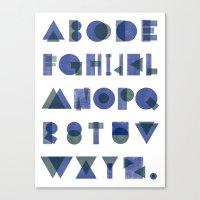 Letterpress Alphabet Canvas Print