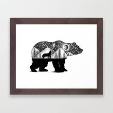 THE BEAR AND THE WOLF Framed Art Print