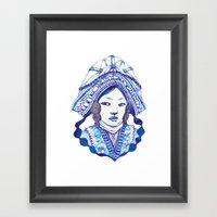 Baby Blue #3 Framed Art Print