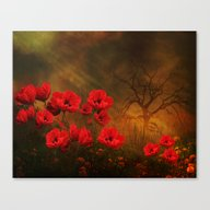 Canvas Print featuring Poppy Love by TaLins