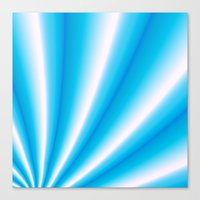 pale blue and white  Canvas Print