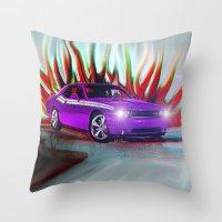 Plum Crazy Challenger Throw Pillow