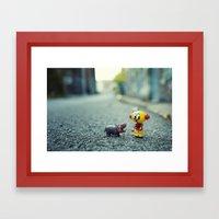HI!! I told you i don't want a pet!! Framed Art Print