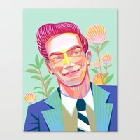 The 1950s handsome man Canvas Print