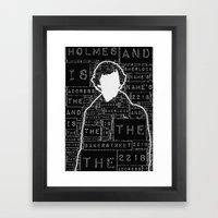 Sherlock BBC: Type Framed Art Print