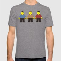 Fascinating Captain Mens Fitted Tee Tri-Grey SMALL