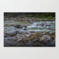 Flowing Western Stream in Glacier National Park Canvas Print
