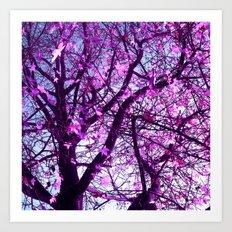 purple tree XXXII Art Print