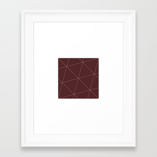 #299 Window into space – Geometry Daily Framed Art Print
