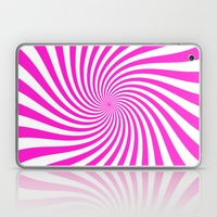 Swirl (Hot Magenta/White) Laptop & iPad Skin