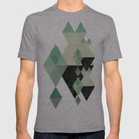 GEOMETRIC 003 Mens Fitted Tee Athletic Grey SMALL