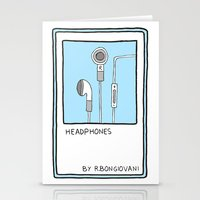 HEADPHONES Card Stationery Cards