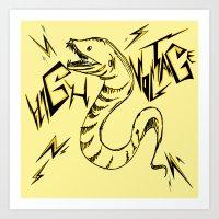 Eel Power Art Print