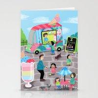 I Scream for Ice Cream Stationery Cards
