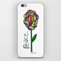 Peace Flower iPhone & iPod Skin