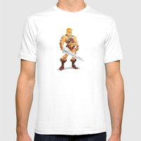 By The Power Of 8-Bit Mens Fitted Tee White SMALL