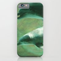 iPhone & iPod Case featuring Two Dolphins by Roger Wedegis