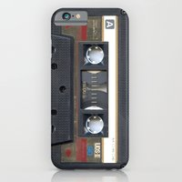 iPhone Cases featuring Cassette Gold by Diego Tirigall