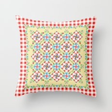 Cottage Chic Gingham II Throw Pillow