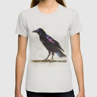 Blackbird Womens Fitted Tee Silver SMALL