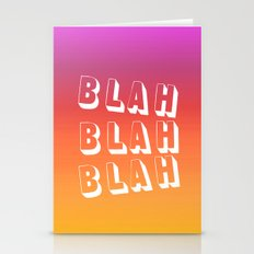 BLAH BLAH BLAH Stationery Cards
