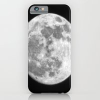 iPhone & iPod Case featuring full moon by Derek Moffat