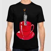 Kitten Cup Mens Fitted Tee Black SMALL