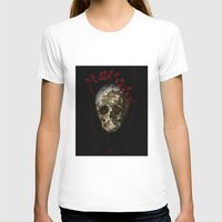 Skull#01 Womens Fitted Tee White SMALL