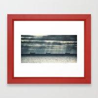 Morning Race Framed Art Print