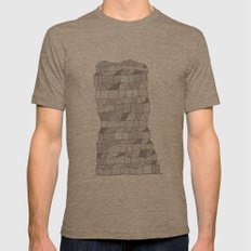 Neighborhood Print Mens Fitted Tee Tri-Coffee SMALL