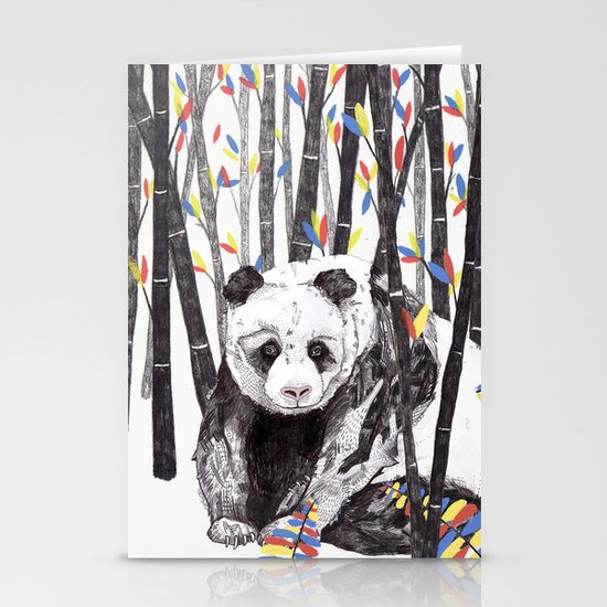 Panda Bear // Endangered Animals Stationery Card