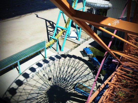 Ferris Wheel in Shadow Art Print