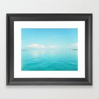 Sky/Sea Framed Art Print