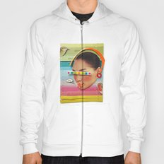 What are the birdies saying? | Collage Hoody