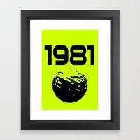 1981 Framed Art Print