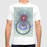 Circle Art  Mens Fitted Tee White SMALL