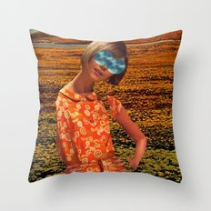 Her Eyes Towards the Sky Throw Pillow