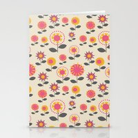 Floral Flight Pink Stationery Cards