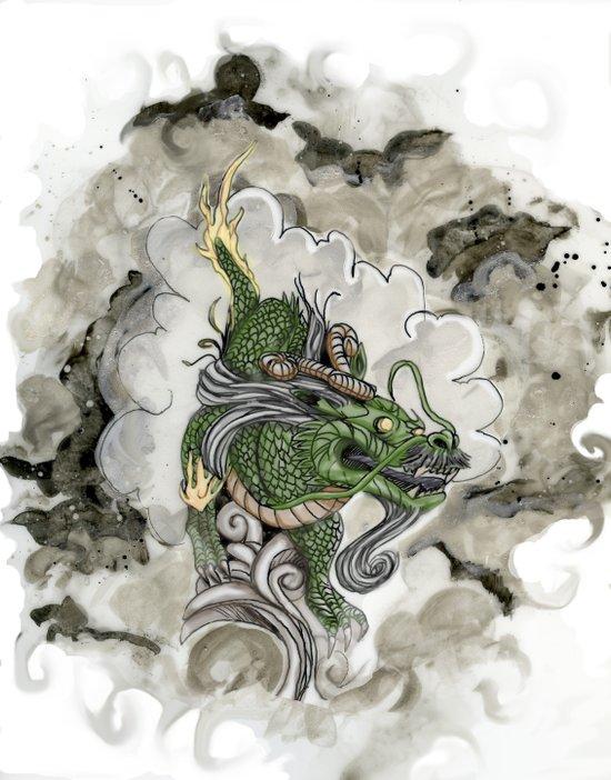 Dragon of The Mist Art Print