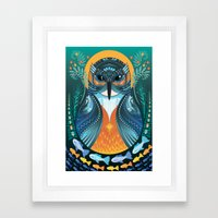 The Nesting Fisher King Framed Art Print