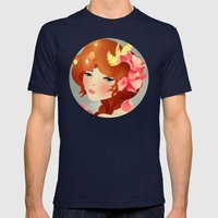 Lily Mens Fitted Tee Navy SMALL