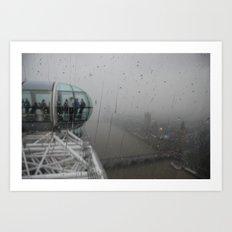 London Rain Art Print