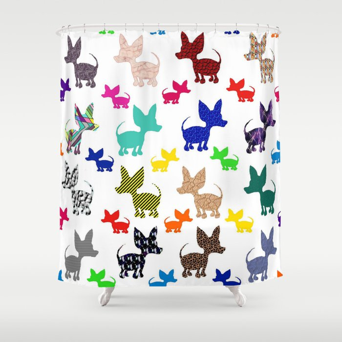 Chihuahua Shower Curtains Dog Breeds Picture