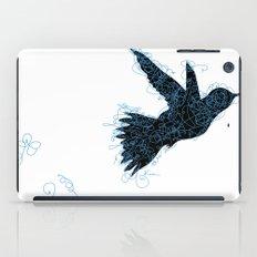 Bird Fly No. 1 (Black/Aqua) iPad Case